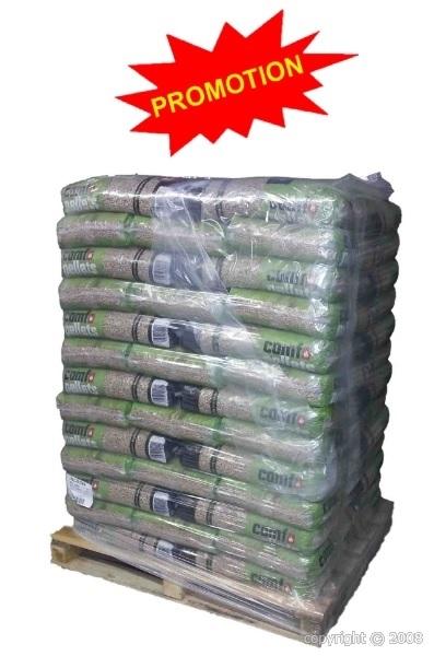 Granulés de bois Premium DIN+/EN+ en palette de 65 sacs de 15 kg