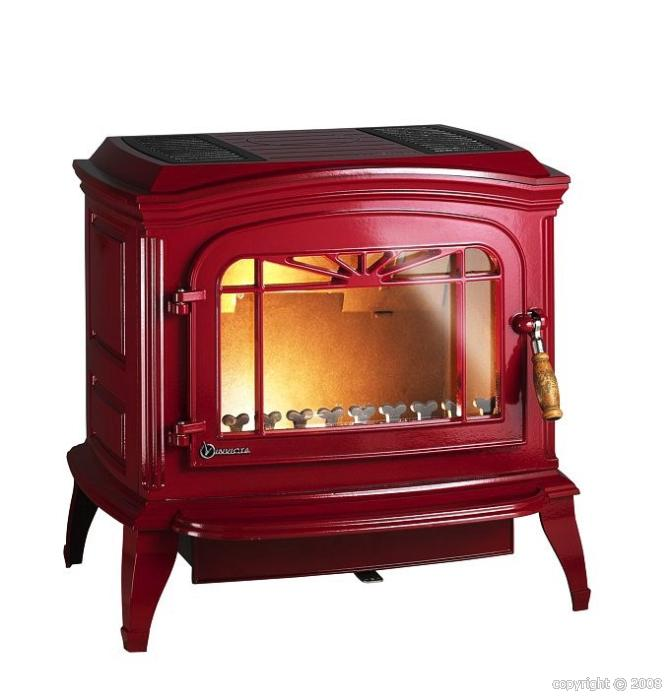 po le bois invicta bradford 12 kw rouge. Black Bedroom Furniture Sets. Home Design Ideas
