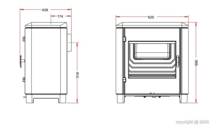 poele a bois invicta carolo avis. Black Bedroom Furniture Sets. Home Design Ideas