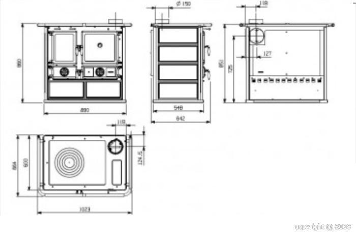 po le bois cusini re cashin classic 6 5 kw fa ence bouilleur. Black Bedroom Furniture Sets. Home Design Ideas