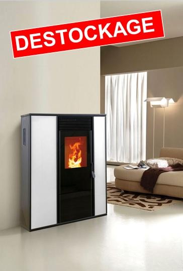 po le granul alice 12 kw verre blanc sortie haute. Black Bedroom Furniture Sets. Home Design Ideas