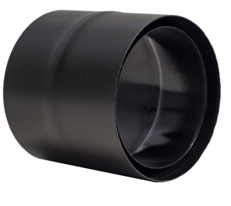 diamètre 150 mm TEN Raccord anti bistre acier émail noir mat